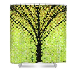 Shower Curtain featuring the painting Modern Landscape Art - Pieces 10 - Sharon Cummings by Sharon Cummings