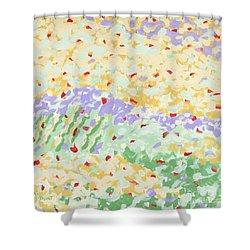 Modern Landscape Painting 3 Shower Curtain