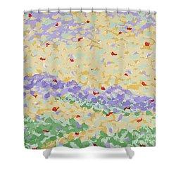 Modern Landscape Painting 4 Shower Curtain