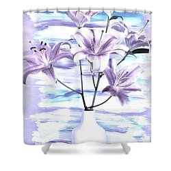 Modern Lilies Shower Curtain
