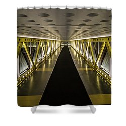 modern looking pedway in Chicago Shower Curtain