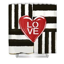 Modern Love- Art By Linda Woods Shower Curtain
