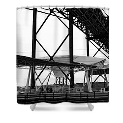 Modern Mass Transit Shower Curtain by Lorraine Devon Wilke