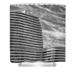 Modern Office Building Shower Curtain