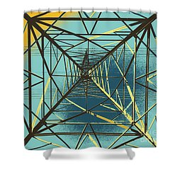 Modern Pyramid Shower Curtain