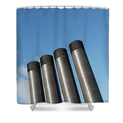 Modern Restaurant Chimneys Shower Curtain by Gaspar Avila
