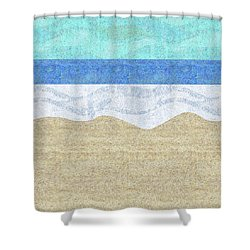 Modern Sandy Beach Shower Curtain