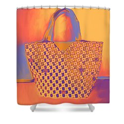 Modern Shopping Bag Shower Curtain