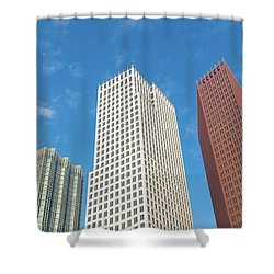 Modern Skyscrapers Shower Curtain