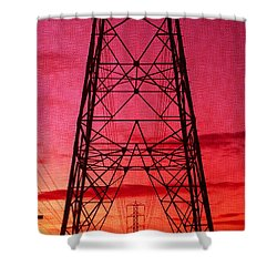 Modern Sunset Shower Curtain