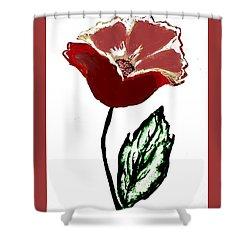 Modernized Flower Shower Curtain by Marsha Heiken
