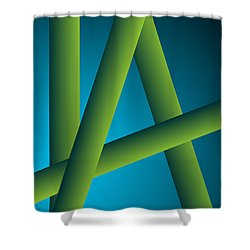 Shower Curtain featuring the digital art Modus by Leo Symon