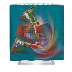 Shower Curtain featuring the digital art Moebius City by Menega Sabidussi