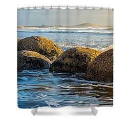 Moeraki Boulders Shower Curtain