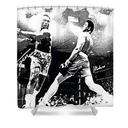Mohamed Ali Float Like A Butterfly Shower Curtain
