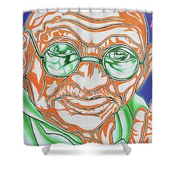 Shower Curtain featuring the photograph Mohandas Karamchand Gandhi  by Juergen Weiss