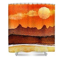 Mohavae Moon Shower Curtain