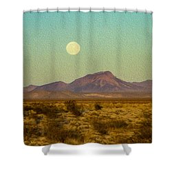 Mohave Desert Moon Shower Curtain