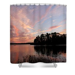 Mohawk Island Aglow Shower Curtain