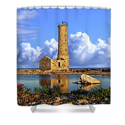 Mohawk Island Lighthouse Shower Curtain