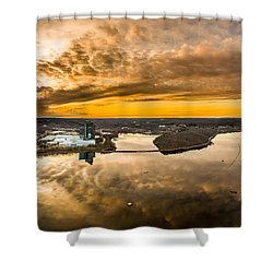 Mohegan Sun Sunset Shower Curtain by Petr Hejl