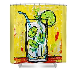Mojito - Latin Tropical Drink Modern Art Shower Curtain