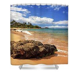 Mokapu Beach Maui Shower Curtain by James Eddy