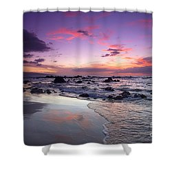 Mokapu Beach Sunset Shower Curtain by Ron Dahlquist - Printscapes