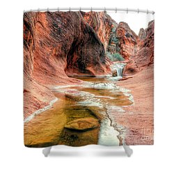 Moki Stream Shower Curtain