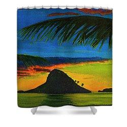 Mokolii Sunset #80  Shower Curtain by Donald k Hall