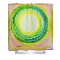 Moksh Yantra Shower Curtain