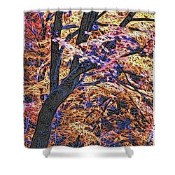 Moku Hanga Autumn Shower Curtain