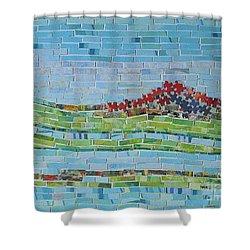 Mole Hill Reborn Shower Curtain by Judith Espinoza