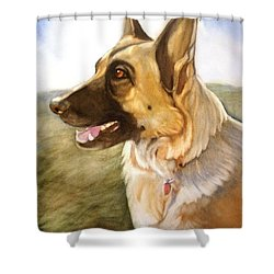 Mollie Shower Curtain by Marilyn Jacobson