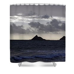 Molokai From Oahu Shower Curtain