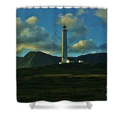 Molokai Lighthouse Shower Curtain by Craig Wood