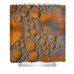 Molten Copper Puddles Abstract Shower Curtain