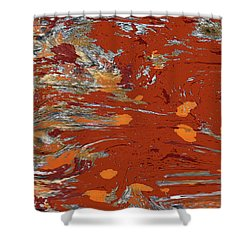 Molten Earth Shower Curtain