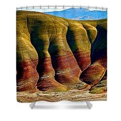 Molten Hills Shower Curtain by Michael Cinnamond