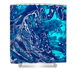 Molten Metal Splash Shower Curtain