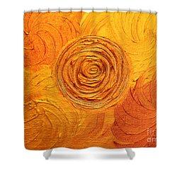 Molten Spiral Shower Curtain by Rachel Hannah