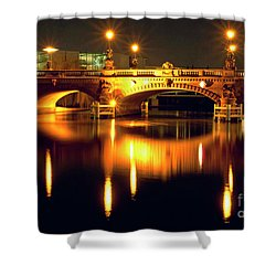 Nocturnal Sound Of Berlin Shower Curtain