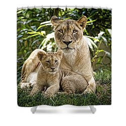 Shower Curtain featuring the photograph Mom And Baby by Cheri McEachin