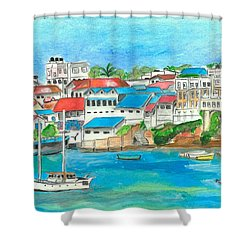 Mombasa Town Shower Curtain