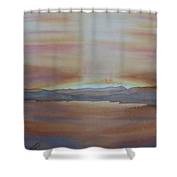 Moment By The Lake Shower Curtain