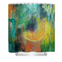 Shower Curtain featuring the painting Moment In Time by Jocelyn Friis