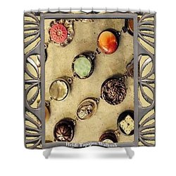 Moments In Time Bracelet Art Shower Curtain