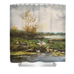 Moments Of Silence Shower Curtain