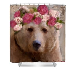 Momma Bear Shower Curtain by Lisa Noneman