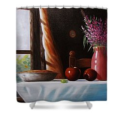 Mom's Apple Pie  Shower Curtain